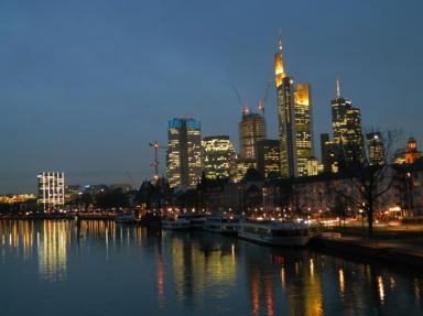 Frankfurt Night Skyline