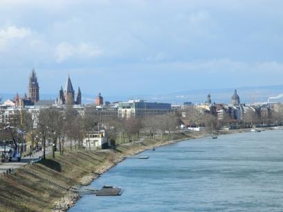 Mainz Rhine River