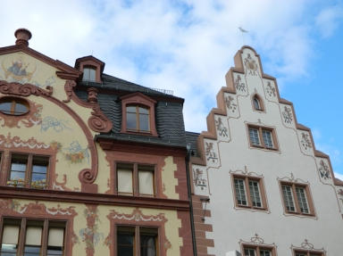 Beautiful old buildings in Mainz
