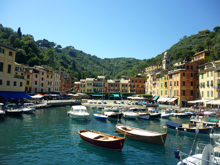 Arriving in Portofino